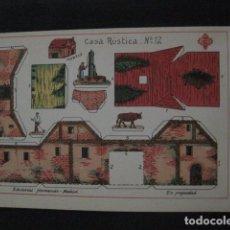 Coleccionismo Recortables: RECORTABLE EDITORIAL HERNANDO MADRID - Nº12- CASA RUSTICA - VER FOTOS - (V-11.481). Lote 89383860