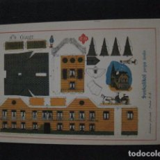 Coleccionismo Recortables: RECORTABLE EDITORIAL HERNANDO MADRID - Nº18 - CHALET - VER FOTOS - (V-11.484). Lote 89384032