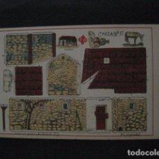 Coleccionismo Recortables: RECORTABLE EDITORIAL HERNANDO MADRID - Nº17 - CHOZA - VER FOTOS - (V-11.485). Lote 89384108