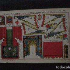 Coleccionismo Recortables: RECORTABLE EDITORIAL HERNANDO MADRID - Nº 78- TRONO MEDICO Y REY - VER FOTOS - (V-11.504). Lote 89387176