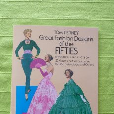 Coleccionismo Recortables: RECORTABLE - GREAT FASHION DESING OF THE FIFTIES. Lote 89440784