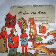 Coleccionismo Recortables: RECORTABLES DEL GATO CON BOTAS. Lote 89698492