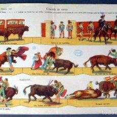 Coleccionismo Recortables: RECORTABLE LA TIJERA CORRIDA DE TOROS SERIE 10 Nº 116 33 CM X 23 CM. Lote 91370615