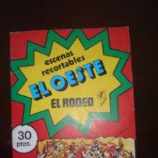 Coleccionismo Recortables: ESCENAS RECORTABLES. EL OESTE.-2-EL RODEO. Lote 91631100