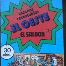 Coleccionismo Recortables: ESCENAS RECORTABLES. EL OESTE. 3.- EL SALOON. Lote 91631605