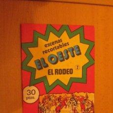 Coleccionismo Recortables: LIBRO DE RECORTABLES EL OESTE. Lote 93330050
