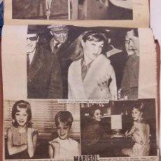 Coleccionismo Recortables: ALBUM CASERO RECORTES DE MARISOL. LOLA FLORES, SARA MONTIEL, LIZ TAYLOR Y OTRAS/OTROS AÑOS 60. Lote 93589135