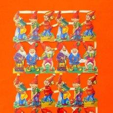 Colecionismo Recortáveis: LÁMINA DE RECORTABLES TROQUELADOS INGLESES AÑOS 60 - ENANITOS, Nº 849 - MLP . Lote 97498347