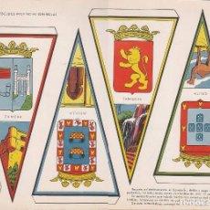 Coleccionismo Recortables: BANDERINES: ZAMORA, MELILLA, ZARAGOZA Y CEUTA. AÑO 1969, RECORTABLES TORAY Nº 173. Lote 162588522