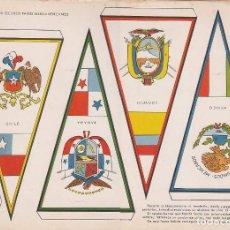 Coleccionismo Recortables: BANDERINES: CHILE, PANAMA, ECUADOR Y MEJICO. AÑO 1969, RECORTABLES TORAY Nº 175. Lote 98232639