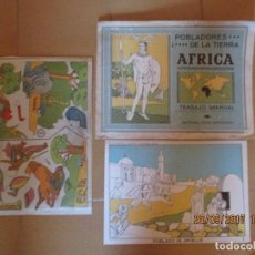 Coleccionismo Recortables: RECORTABLE ANTIGUO PARA PEGAR EN SOPORTE -AFRICA -ED ROMA. Lote 98380659