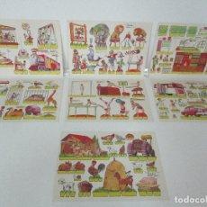 Coleccionismo Recortables: 7 LAMINAS RECORDABLES - RECORTES KIKI-LOBO - EDITORIAL ROMA - DEL Nº 1 AL Nº 7 - AÑO 1970. Lote 99704295