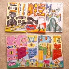 Coleccionismo Recortables: LOTE 7 PUZZLE MAQUETAS CARTÓN CASA AVIÓN COCHE OSO. Lote 100763295