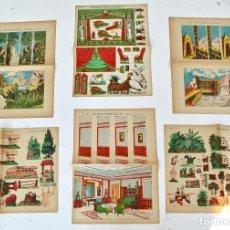 Coleccionismo Recortables: LOTE DE SEIS RECORTABLES DE TEATRO. LITOGRAFÍA ARTÍSTICA ESPAÑOLA. TEATRILLO. TEATROS DE JUGUETE.. Lote 101093615