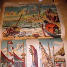 Coleccionismo Recortables: LAMINA DECORACIONES DE TEATRO Nº 1081 . MARINA ( BASTIDORES Y FONDO ) PALUZIE . Lote 104554863