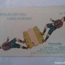 Coleccionismo Recortables: FIGURAS RECORTABLES.EQUIPOS DE FOOT-BALL Nº 17. Lote 105719119