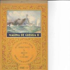 Coleccionismo Recortables: MARINA DE GUERRA II - BLOQUES PARA PINTAR SERIE 12 - EXELENTE CONSERVACION. Lote 106083519