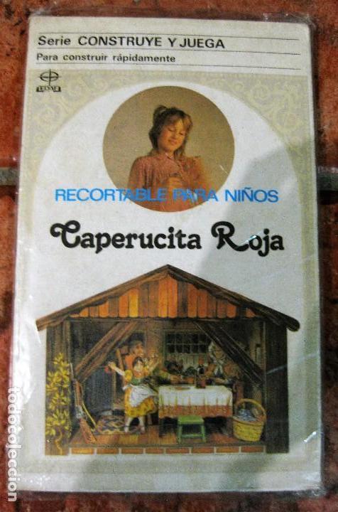 RECORTABLE PARA NIÑOS LA CAPERUCITA ROJA .EDAF . SERIE CONSTRUYE Y JUEGA 1991 GERMANY , DIORAMA (Coleccionismo - Otros recortables)