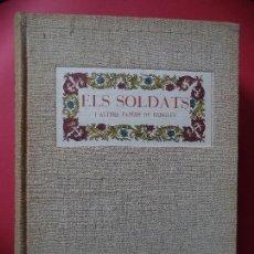 Coleccionismo Recortables: ELS SOLDATS I ALTRES PAPERS DE RENGLES.J.AMADES,J.COLOMINAS I P.VILA. Lote 111228355