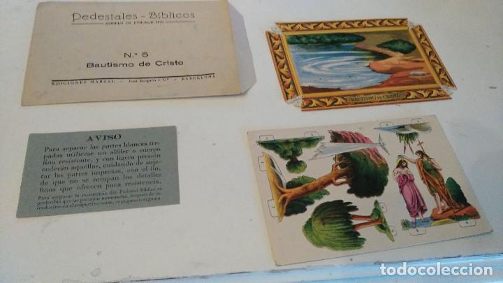 PEDESTALES BÍBLICOS Nº 5 BAUTISMO DE CRISTO PASAJES BÍBLICOS ED BARSAL JUAN BARGUÑÓ BARCELONA 1939 (Coleccionismo - Otros recortables)