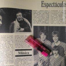 Coleccionismo Recortables: ANTIGUA PUBLICIDAD HOJA DE REVISTA MUSICA GRUPO THE BEATLES . Lote 112405351