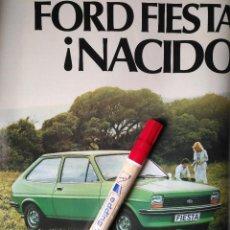 Coleccionismo Recortables: COCHE FORD FIESTA VERDE - ANUNCIO PUBLICIDAD ORIGINAL - HOJA. Lote 112406331