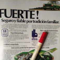 Coleccionismo Recortables: COCHE FORD FIESTA VERDE - ANUNCIO PUBLICIDAD ORIGINAL - HOJA. Lote 112406359