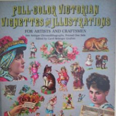 Coleccionismo Recortables: FULL COLOR VICTORIAN VIGNETTES AND ILLUSTRATIONS. Lote 112445580