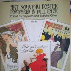 Coleccionismo Recortables: ART NOUVEAU POSTER POSTCARD. Lote 112446268