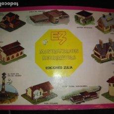 Coleccionismo Recortables: MANUALIDADES RECREATIVAS EDICIONES ZULIA 25 RECORTABLES CONSTRUCCIÓN. Lote 112691111
