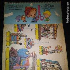 Coleccionismo Recortables: LOTE DE 80 RECORTABLES KIKI-LOLO. SERIE ESCENAS INFANTILES. EDITORIAL ROMA. Lote 112691583
