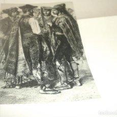 Coleccionismo Recortables: HOJA - ANTIGUOS PAYESES EN RAMBLAS BARCELONA. Lote 113257943