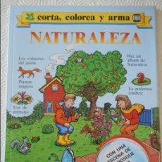 Coleccionismo Recortables: CORTA, COLOREA Y ARMA. NATURALEZA. FHER. 210 GRAMOS.. Lote 113316319
