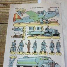 Collectionnisme Images à Découper: RECORTABLE EDICIONES LA TIJERA SERIE ILUSIÓN Nº 49 AVIACIÓN DE BOMBARDEO. Lote 114237435