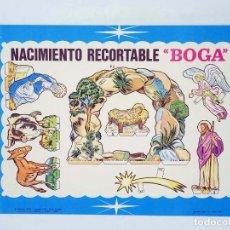 Coleccionismo Recortables: NACIMIENTO RECORTABLE EN BOLSA COMPLETO. LÁMINA CON 4 PLIEGUES. BOGA, 1968. OFRT. Lote 191350236