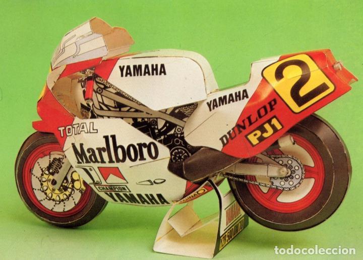 RECORTABLE MOTO YAMAHA YZR 500 ESCALA 1/12. 1986 (Coleccionismo - Otros recortables)