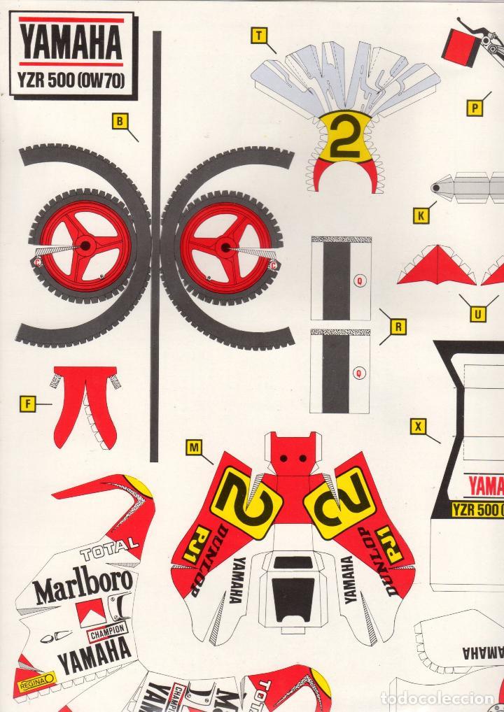 Coleccionismo Recortables: RECORTABLE MOTO YAMAHA YZR 500 ESCALA 1/12. 1986 - Foto 3 - 115529511