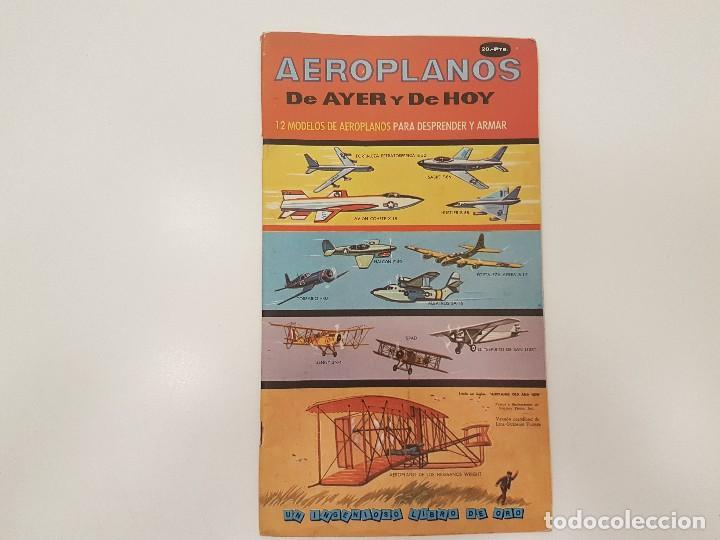 AEROPLANOS DE AYER Y DE HOY, (RECORTABLE), 1967, ED. NOVARO (Coleccionismo - Otros recortables)