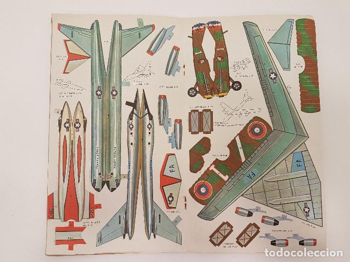 Coleccionismo Recortables: AEROPLANOS DE AYER Y DE HOY, (RECORTABLE), 1967, ED. NOVARO - Foto 3 - 118583991