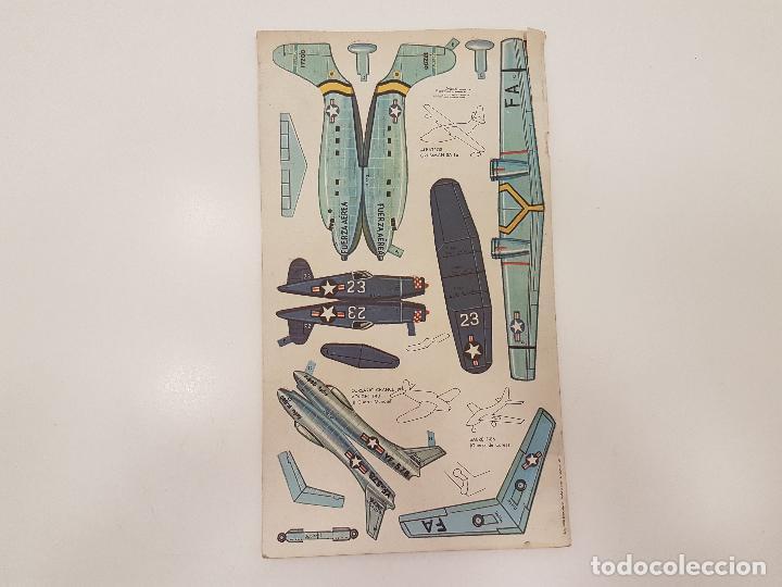 Coleccionismo Recortables: AEROPLANOS DE AYER Y DE HOY, (RECORTABLE), 1967, ED. NOVARO - Foto 6 - 118583991