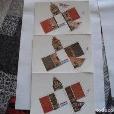 Coleccionismo Recortables: TRES POSTALES HOLLANDHOUSES CON RECORTABLES. Lote 119518891