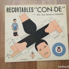Coleccionismo Recortables: RECORTABLE CON DE JUGADOR DE FÚTBOL REAL CLUB DEPORTIVO ESPAÑOL- ABRIL 1940 - . Lote 119869607