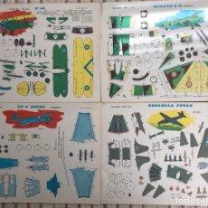 Coleccionismo Recortables: CUATRO LÁMINAS RECORTABLES EVA AVIÓN AVIONES. Lote 121354196