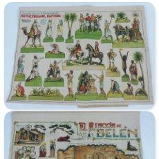Coleccionismo Recortables: ANTIGUO RECORTABLE EL RINCON DEL BELEN, POR J. GALVEZ, DIBUJANTE, CON HOJA SUPLEMENTO DE REYES, SOLD. Lote 124010159