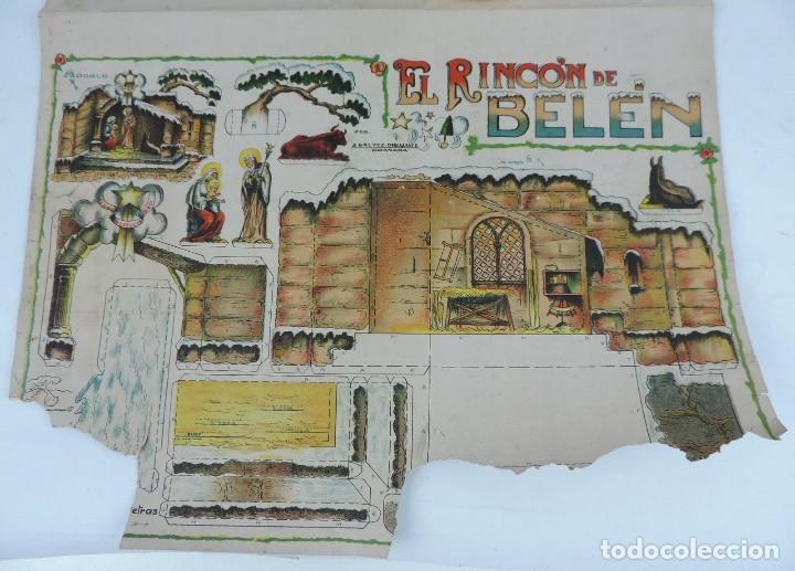 Coleccionismo Recortables: ANTIGUO RECORTABLE EL RINCON DEL BELEN, POR J. GALVEZ, DIBUJANTE, CON HOJA SUPLEMENTO DE REYES, SOLD - Foto 3 - 124010159