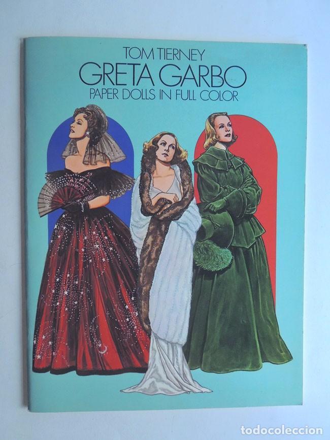 ESPECTACULAR / GRETA GARBO / LIBRO DE RECORTABLES DE SUS PELICULAS / TOM TIERNEY / AÑO 1985 (Coleccionismo - Otros recortables)