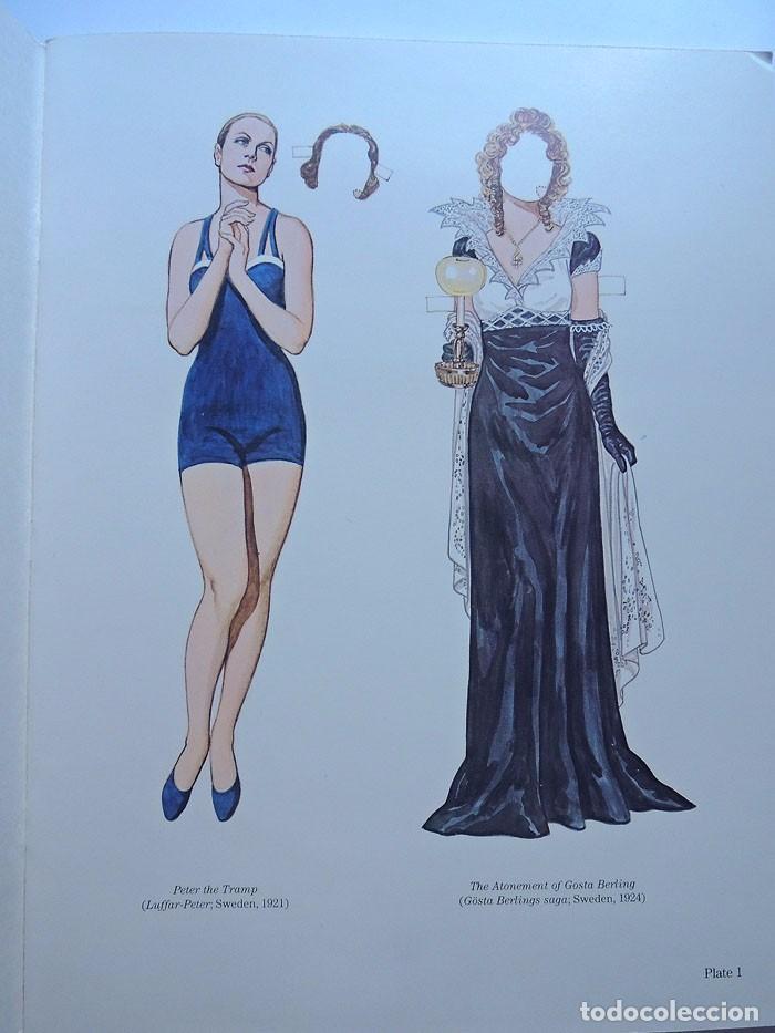 Coleccionismo Recortables: ESPECTACULAR / GRETA GARBO / LIBRO DE RECORTABLES DE SUS PELICULAS / TOM TIERNEY / AÑO 1985 - Foto 2 - 128380003