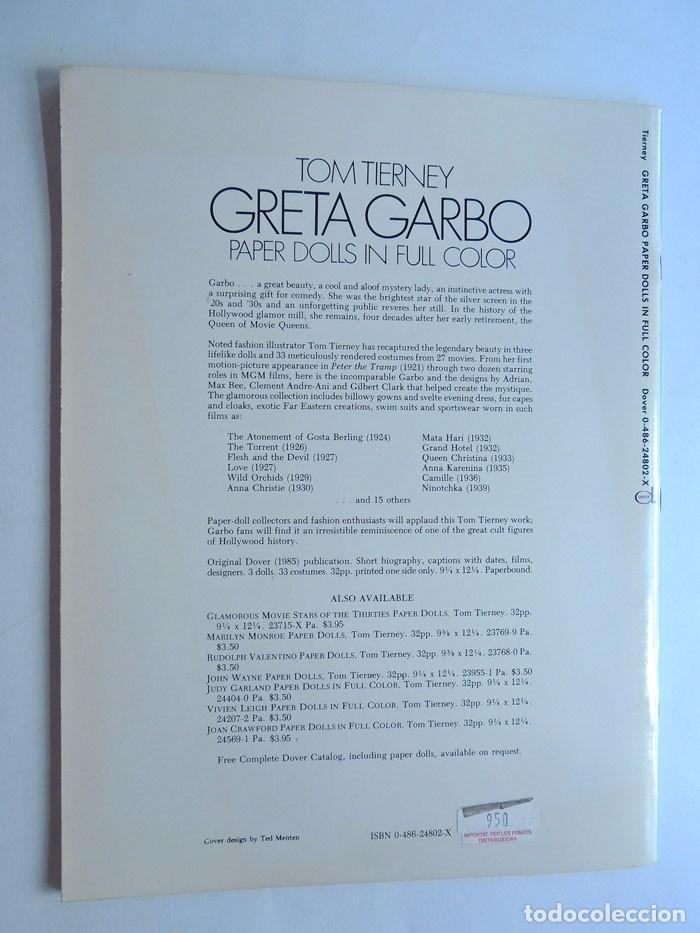 Coleccionismo Recortables: ESPECTACULAR / GRETA GARBO / LIBRO DE RECORTABLES DE SUS PELICULAS / TOM TIERNEY / AÑO 1985 - Foto 6 - 128380003