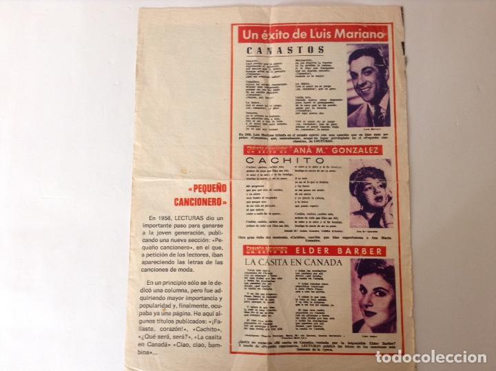 RECORTE LETRAS DE CANCIONES (Coleccionismo - Otros recortables)