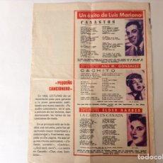 Coleccionismo Recortables: RECORTE LETRAS DE CANCIONES. Lote 130960971
